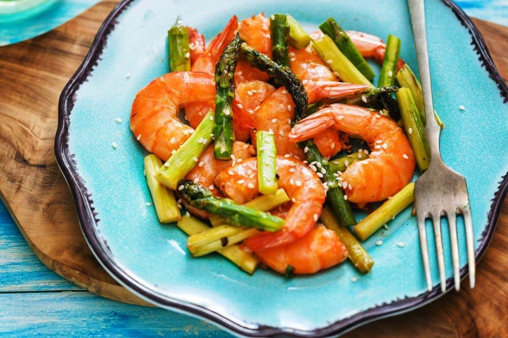 Garlic Butter Shrimp with Asparagus