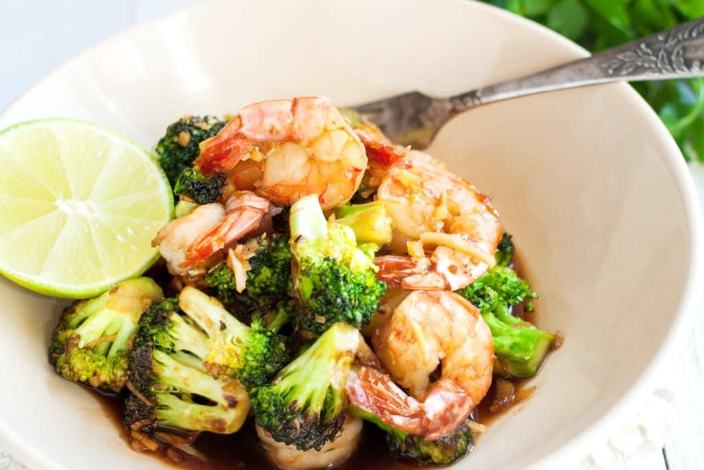 Shrimp and Broccoli with Garlic Lemon Butter Sauce